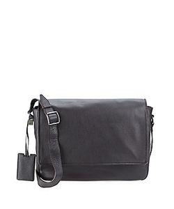 John Varvatos | Basic Leather Messenger Bag