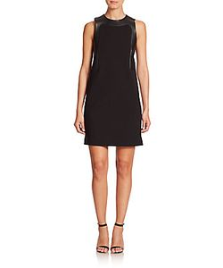 Michael Kors | Leather Paneled A-Line Dress