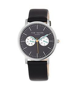 Ted Baker   Round Leather Strap Watch
