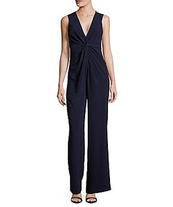 Halston Heritage | Solid Knotted Full Jumpsuit