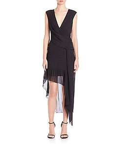 Issa | Asymmetric Woven Hem Dress