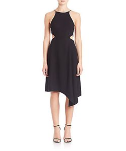 Halston Heritage | Asymmetrical Halter Dress