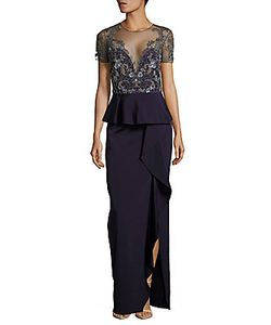 Marchesa Notte | Embellished Column Gown