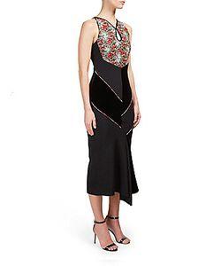Roland Mouret | Printed Sleeveless Asymmetric Dress