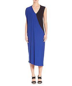 Zero + Maria Cornejo | Long Nya Colorblock Dress