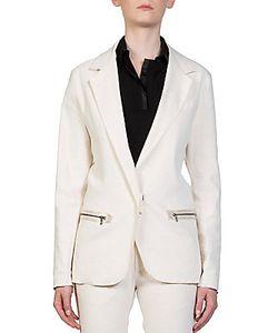 Lanvin   Linen One-Button Jacket