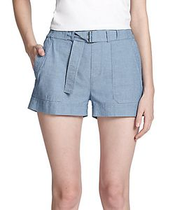 Vince | Belted Chambray Short