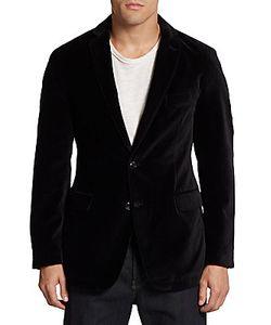 Saks Fifth Avenue BLACK | Cotton Velvet Classic-Fit Blazer