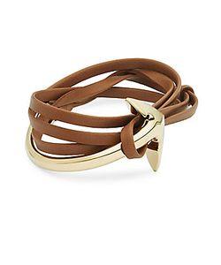 Miansai | Brummel Leather Anchor-Charm Bracelet