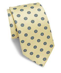 Saks Fifth Avenue   Medallion Printed Silk Tie