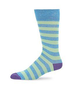 Saks Fifth Avenue | Striped Mercerized Socks