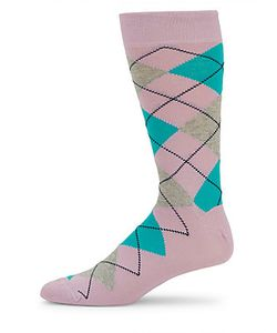 Saks Fifth Avenue Made in Italy | Argyle-Print Cotton-Blend Socks
