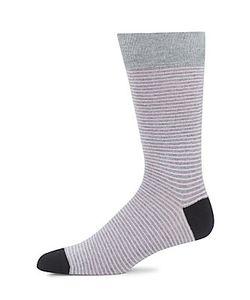 Saks Fifth Avenue | Tonal Striped Crew Socks