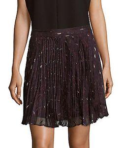 Haute Hippie   Goodnight Pleated Silk-Blend Mini Skirt