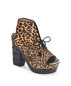 Salvatore Ferragamo | Laconia Fur Block-Heel Sandals