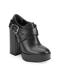 Jil Sander | Round Toe Leather Ankle Boots