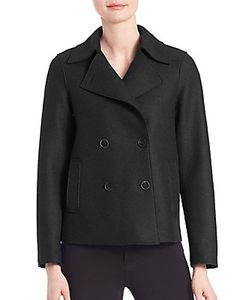 Army Yves Salomon | Virgin Wool Cropped Peacoat