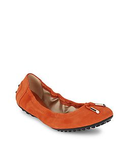 Tod's | Leather Tie-Front Ballet Flats