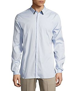 The Kooples | Solid Casual Cotton-Blend Shirt
