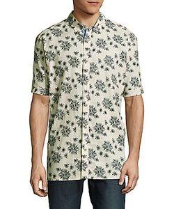 Report Collection | -Print Linen-Cotton Shirt