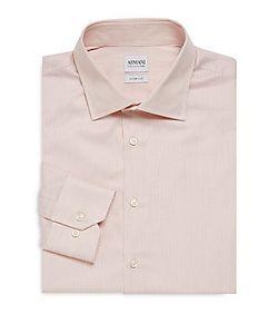 Armani Collezioni | Striped Slim-Fit Cotton Dress Shirt
