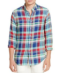 Ralph Lauren Purple Label | Plaid Linen Sport Shirt