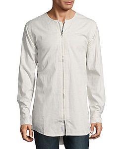 Publish | Zip-Front Cotton Shirt