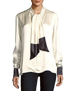 Martin Grant | Two-Tone Silk Blouse