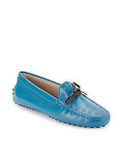 Tod's | Leather Slip-On Moc-Toe Loafers