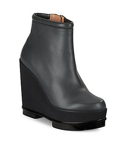 Robert Clergerie | Leather Ankle Wedge Heel Boots