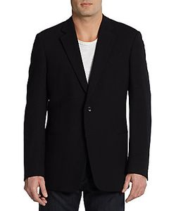 Armani Collezioni | Stretch Wool Slim-Fit Blazer