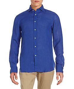 Ralph Lauren | Solid Linen Button-Down Shirt