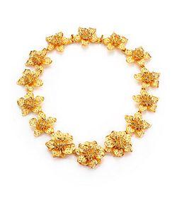 Kenneth Jay Lane | Satin-Finish Flower Necklace