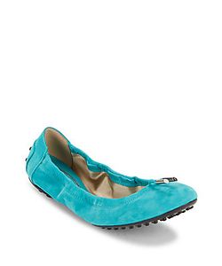 Tod's | Studded-Heel Leather Ballet Flats