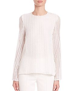 Adam Lippes   Textured Keyhole Top