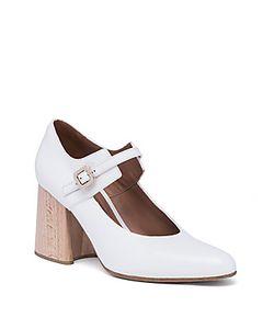 Marni | Leather Mary Jane Wooden Block-Heel Pumps