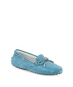 Tod's | Lace-Up Suede Moccasins