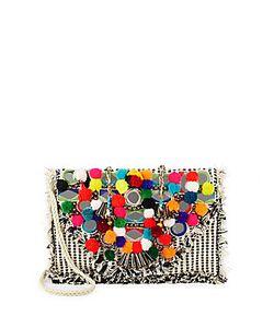 Antik Batik | Pom-Pom Embellished Shoulder Bag