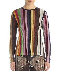 Marco de Vincenzo   Rainbow Stripe Lurex Sweater