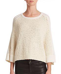 Tess Giberson | Boucleacute Pointelle-Detail Sweater