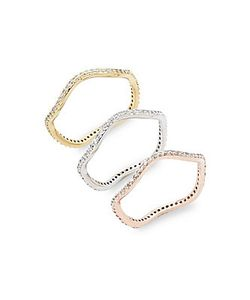 Saks Fifth Avenue | Studded Stackable Rings