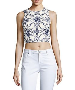 Marchesa Notte | Printed Cropped Top