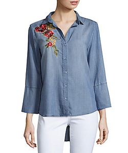Saks Fifth Avenue | Caddy Embroidered Denim Shirt
