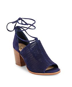 Vince Camuto | Lindel Lace-Up Suede Booties