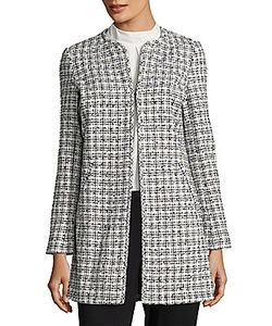 Karl Lagerfeld | Pen Front Tweed Topper Jacket