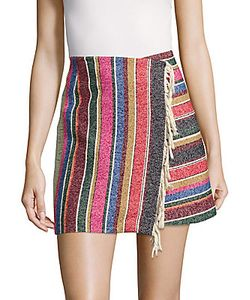 Sandro | Josy Striped Wrap-Around Skirt