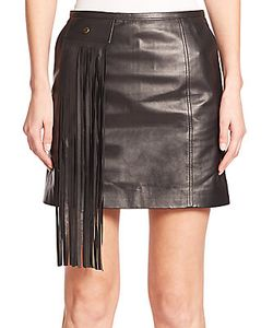 Tamara Mellon | Fringe-Detail Leather Mini Skirt