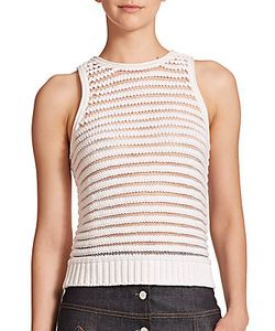 Carven | Sleeveless Striped Knit Top