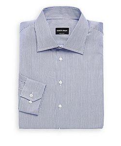 Giorgio Armani   Striped Cotton Dress Shirt