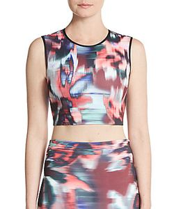 Clover Canyon | Floral Ikat Cropped Top